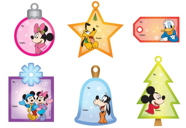 Disney Christmas Tags