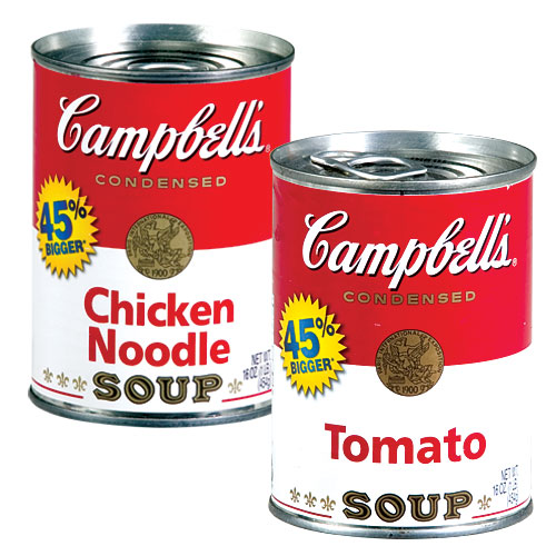 Campbells Chicken Noodle Soup Can Campbell's chicken noodle