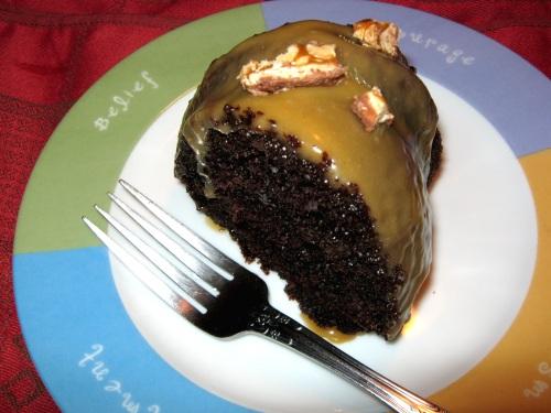 Chocolate Cake with Peanut Butter Glaze Recipe