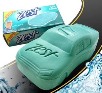 car shaped zest bar soap