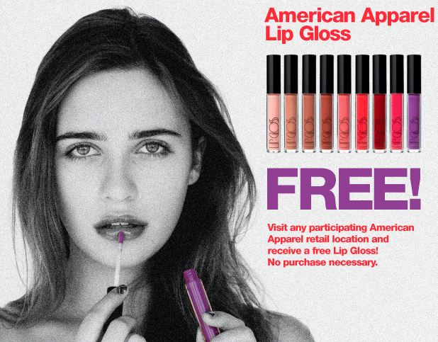 lip gloss at american apparel