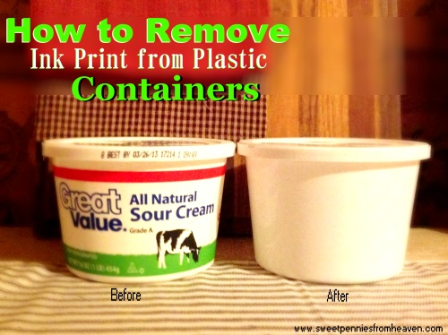 How to Remove Ink from Plastic Containers