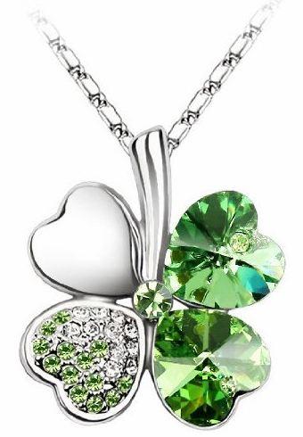 4 leaf clover necklace pendant