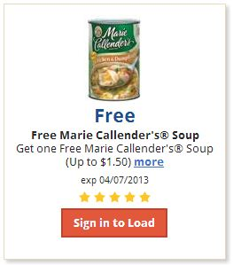 Free Marie Callender's Soup eCoupon