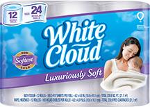 White Cloud Luxuriously Soft Bath Tissue
