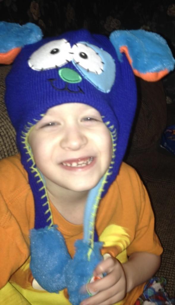 Eli with Flipeez Hat