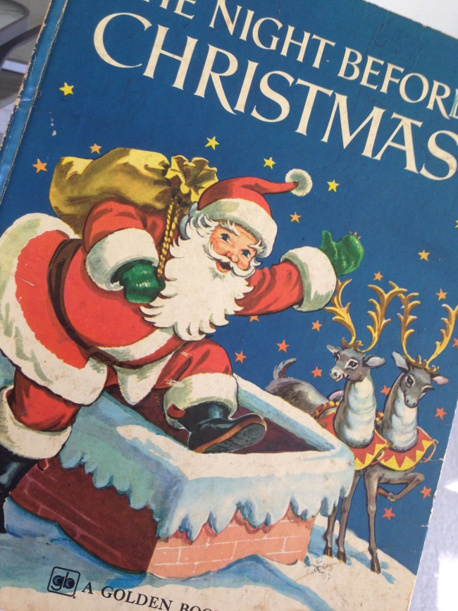 Night Before Christmas Golden Book vintage #shop #caprisunpickers