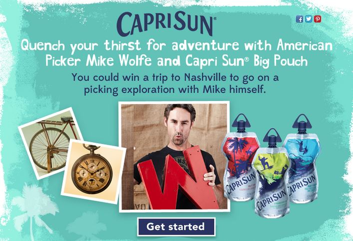 Capri Sun Big Pouch American Pickers Contest
