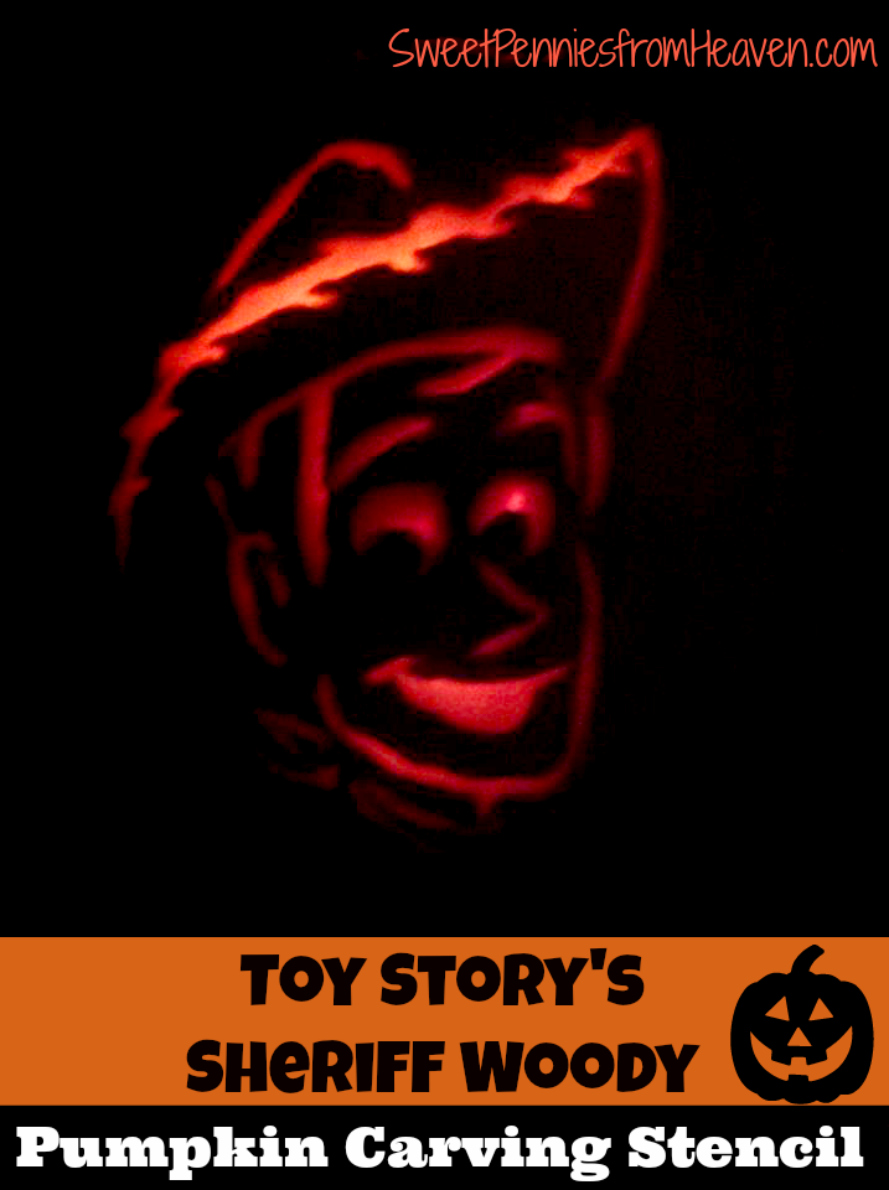 woody pumpkin carving Stencil