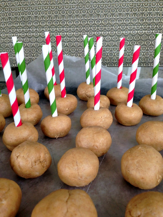 peanut butter ball pops #shop #holidaybutter