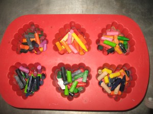 crayons in candy mold
