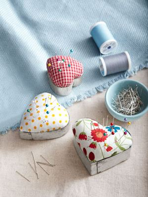 heart cookie cutter pin cushion