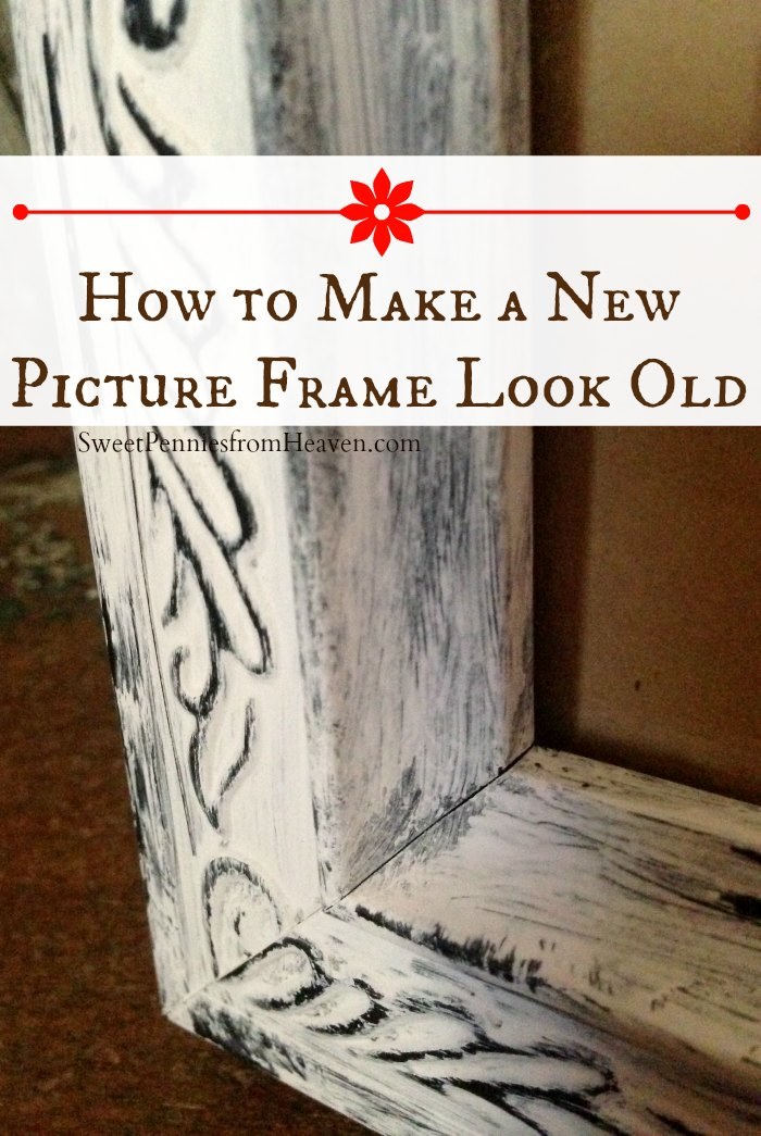 diy distressed frame how to make a new frame look old