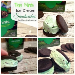 Thin Mint Ice Cream Sandwiches
