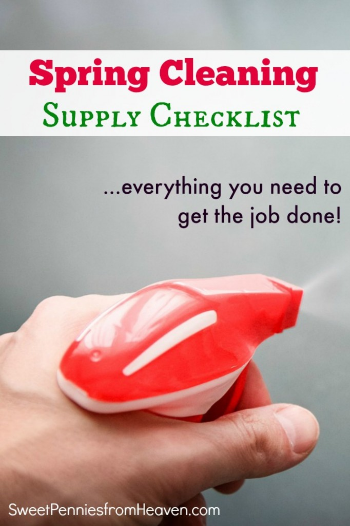 Spring Cleaning Supply Checklist