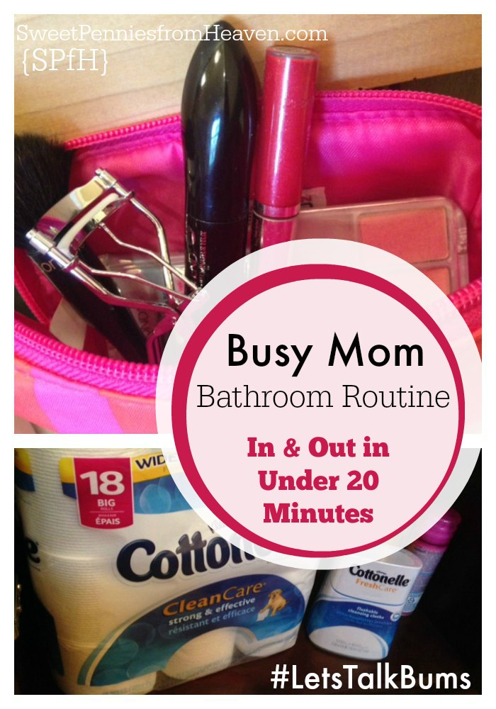 Cottonelle #LetsTalkBums Bathroom Routines