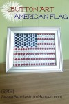 4th of July - Button Art American Flag