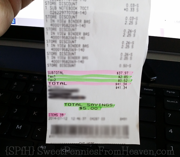 Back to School on a Budget Dollar General Receipt