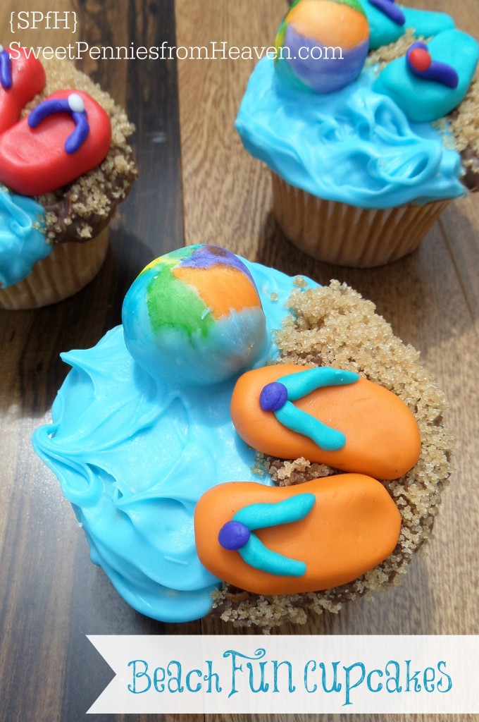 Summer Treats - Beach Fun Cupcakes