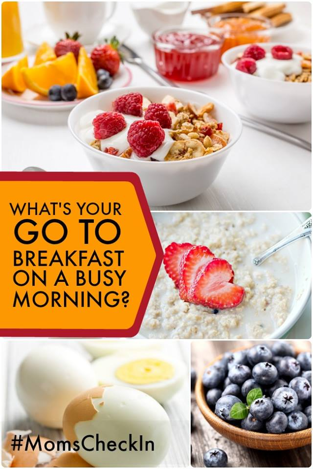 go to breakfast on busy mornings moms check in #MomsCheckIn