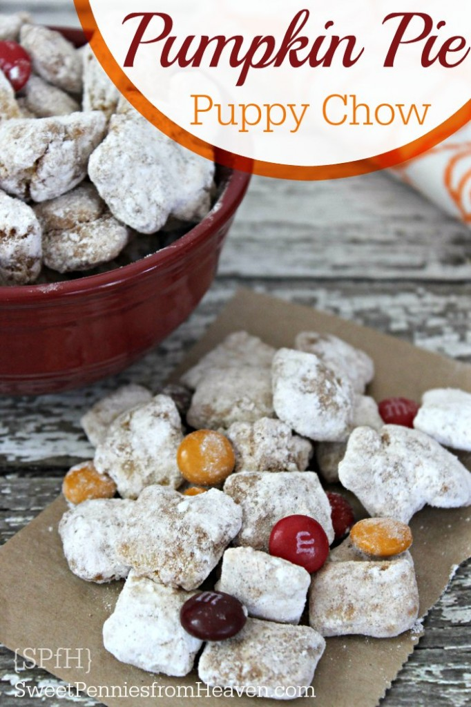 pumpkin pie puppy chow