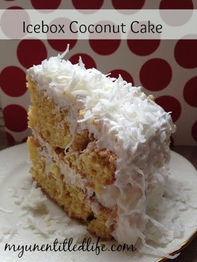 icebox coconut cake.