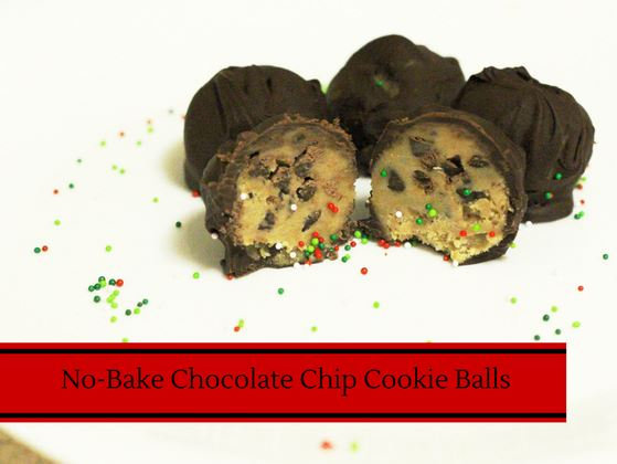 no bake chocolate chip cookie dough balls