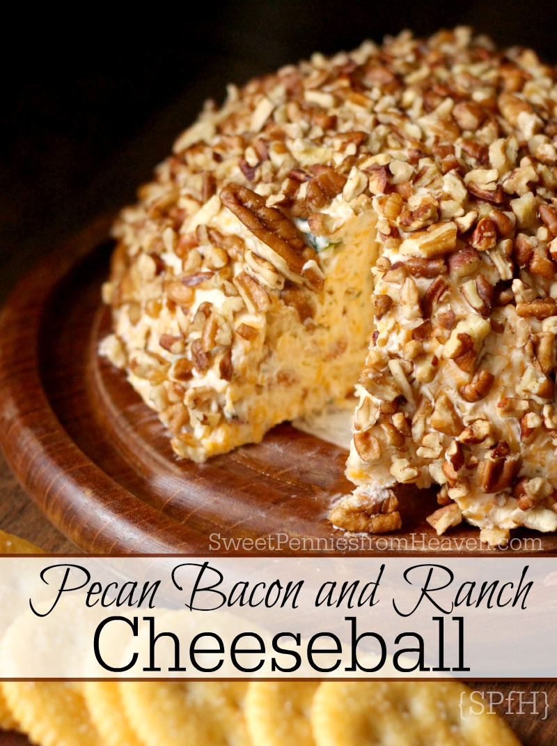 pecan bacon and ranch cheeseball