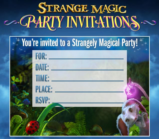 Free Printable Strange Magic Party Invitations and More – Magic Party Invitations
