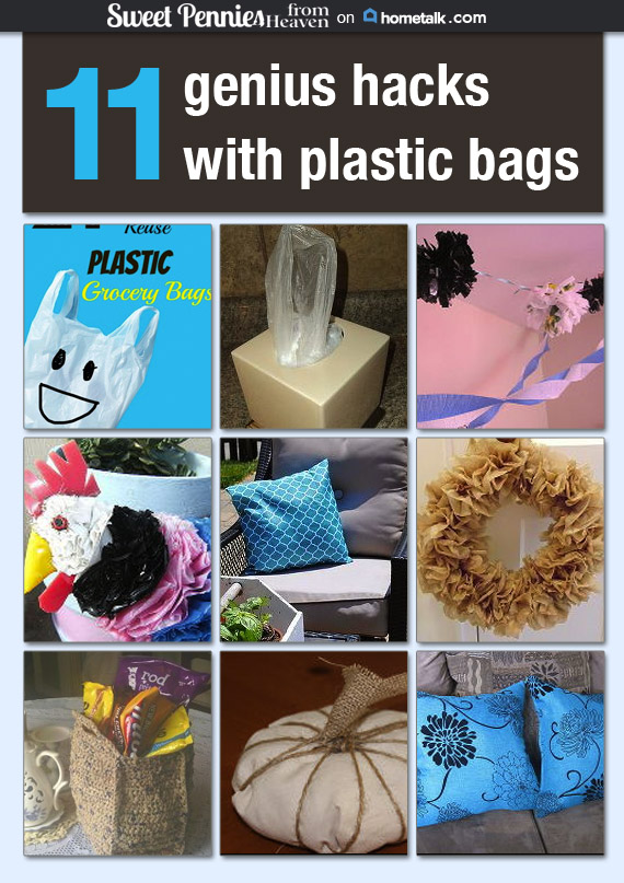 11 genius plastic bag hacks Hometalk board