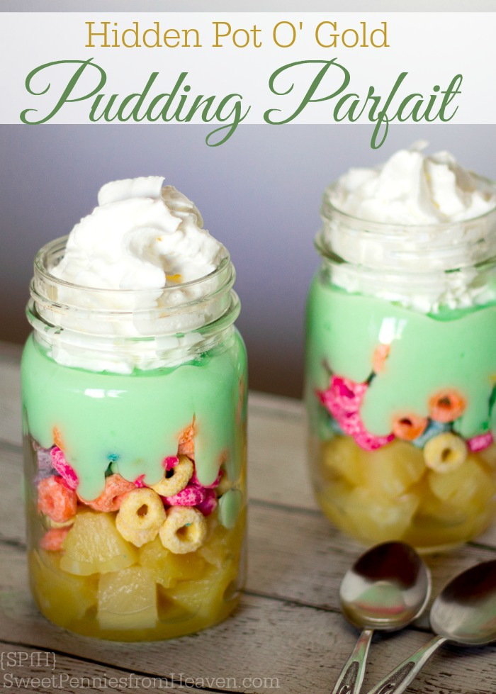 Pot o Gold pudding parfait