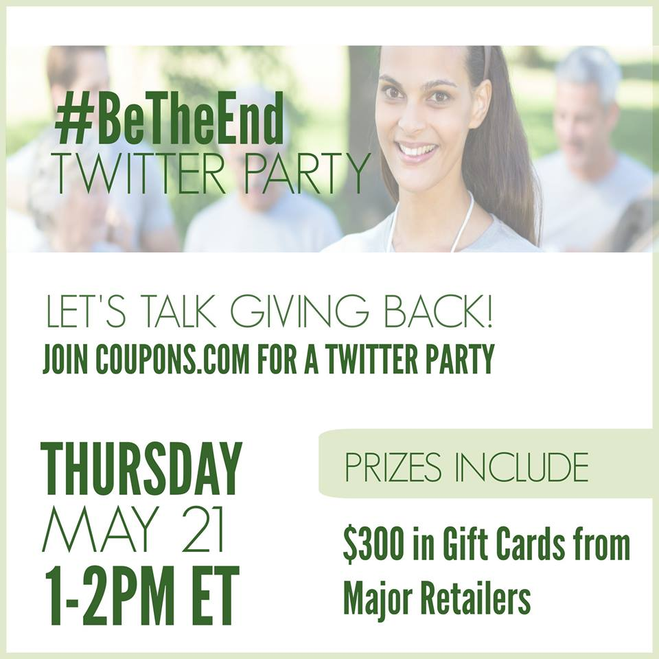 #BeTheEnd Twitter Party with BCRF and Couponscom