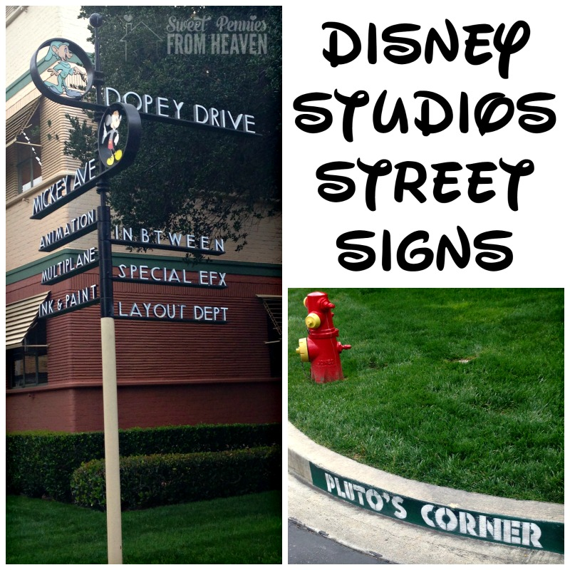 Disney Archives Street Signs at the Studio Lot