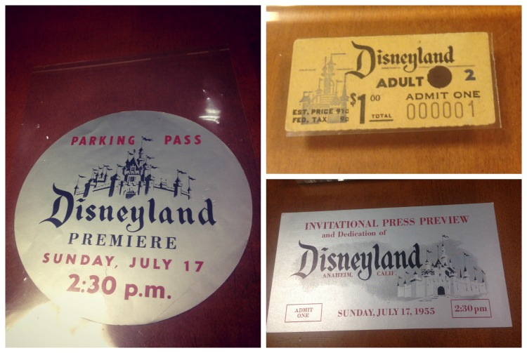 Disneyland-first-ticket-and-press-passes
