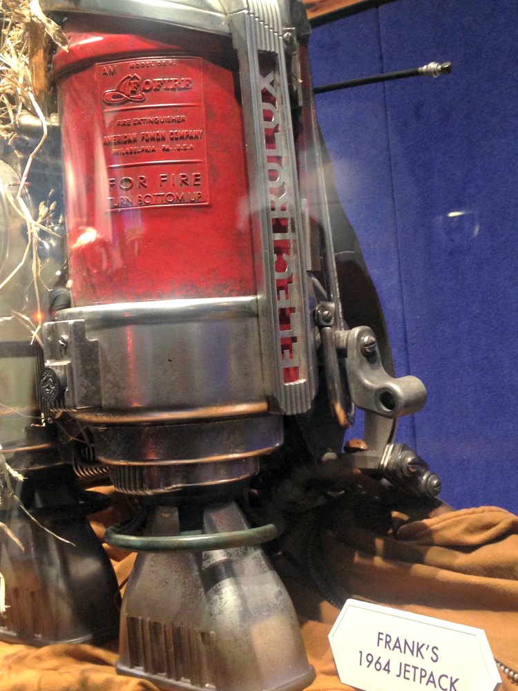 Tomorrowland Exhibit - Frank's Jetpack with Electrolux Parts