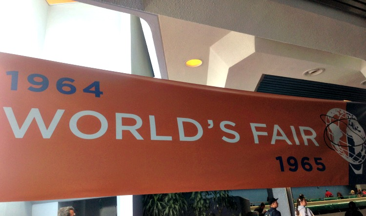 The Tomorrowland Sneak Peek and Exhibit Experience - The 1964 World's Fair Banner