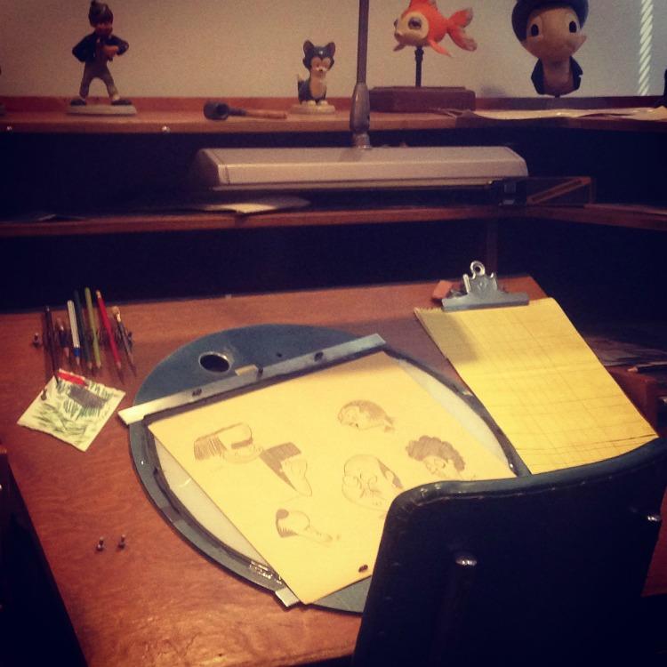 Disney Archives an original animation desk