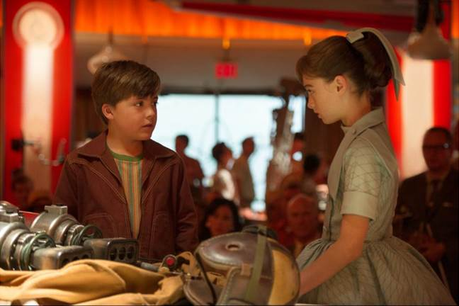 Frank and Athena in Tomorrowland