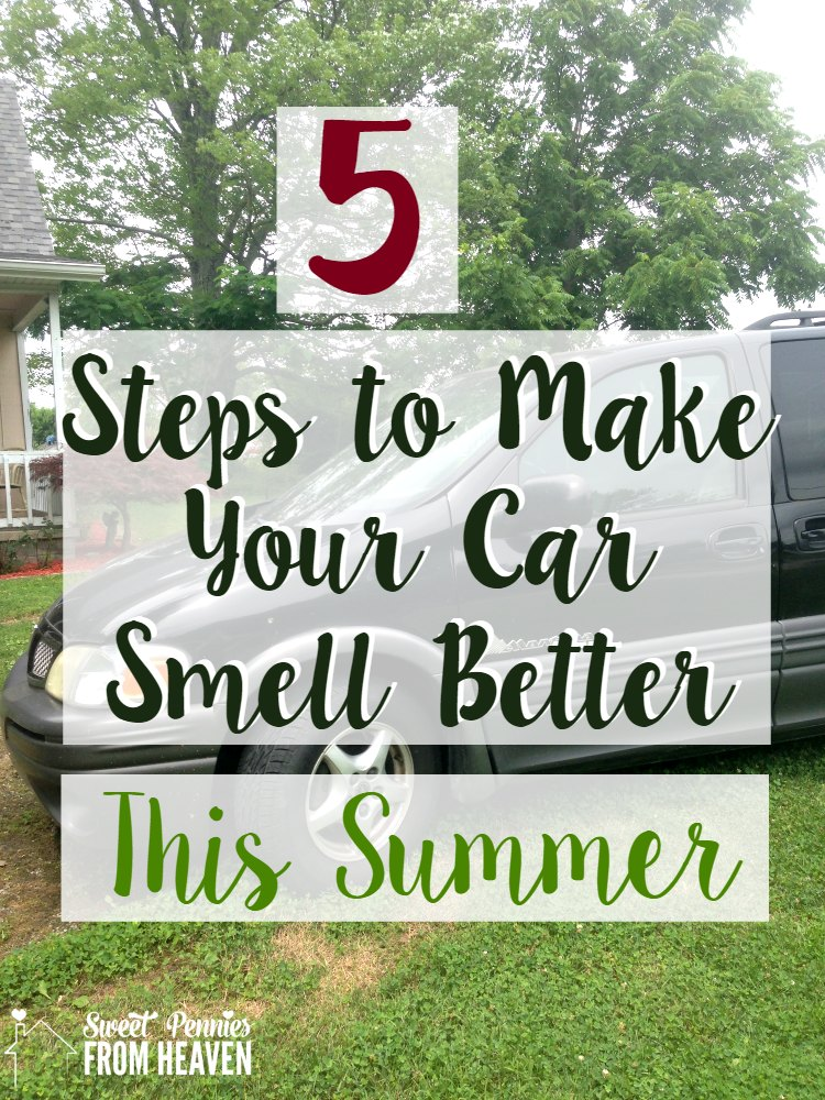 5 steps to make your car smell good in the summer!