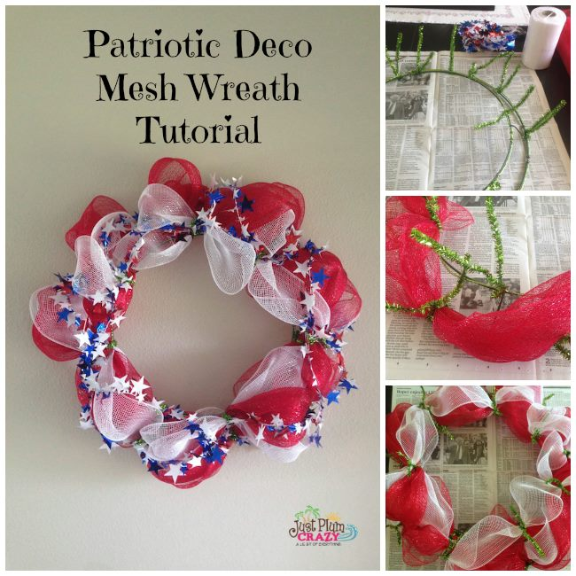 12 Easy Diy Deco Mesh Wreaths For Fall: Patriotic Deco Mesh Wreath Tutorial (12 Days Of