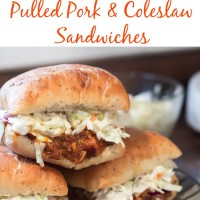 Whip these southern BBQ pulled pork and coleslaw sandwiches up in less than 10 minutes!