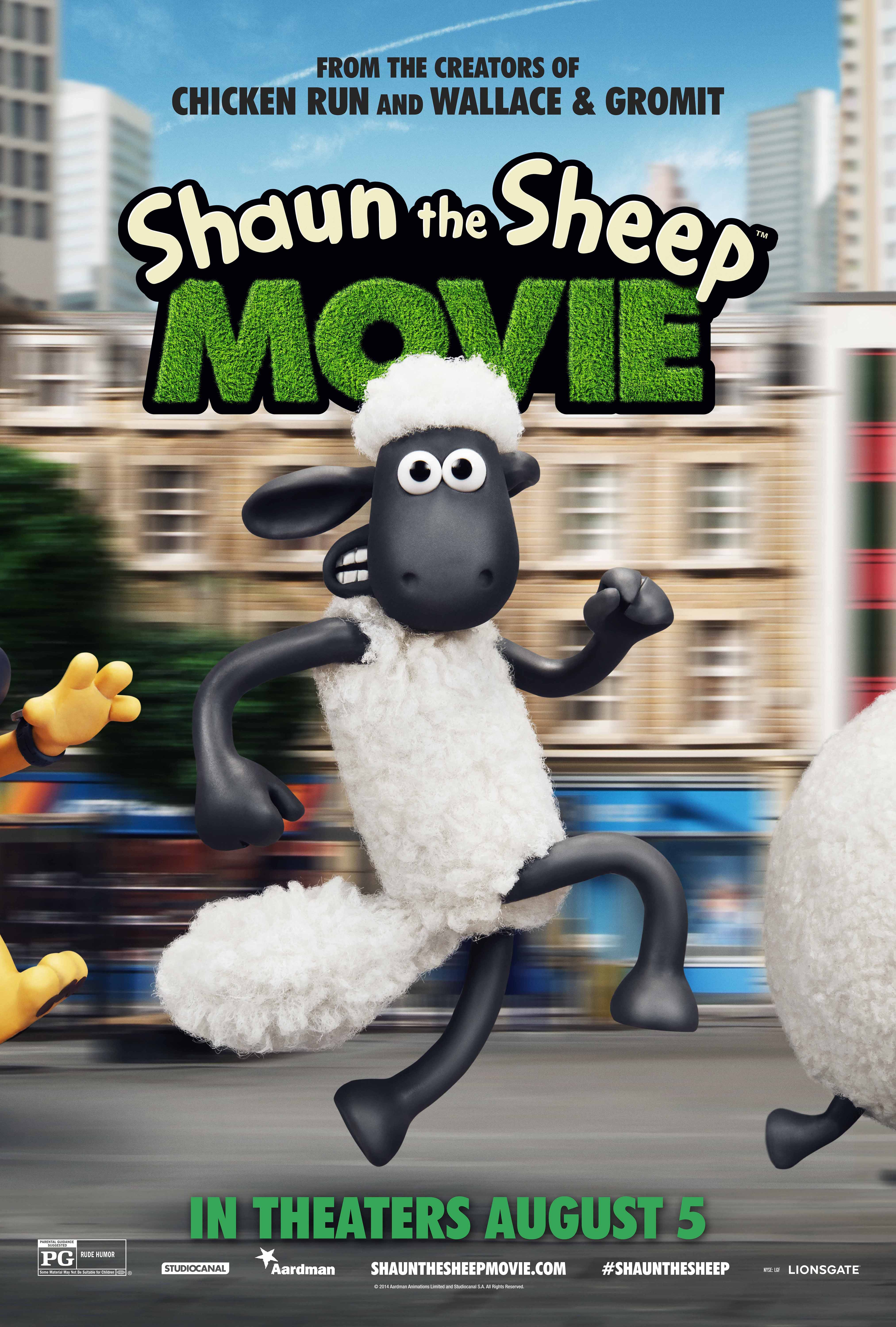 Shaun the Sheep Movie Poster, in theaters Aug. 5th