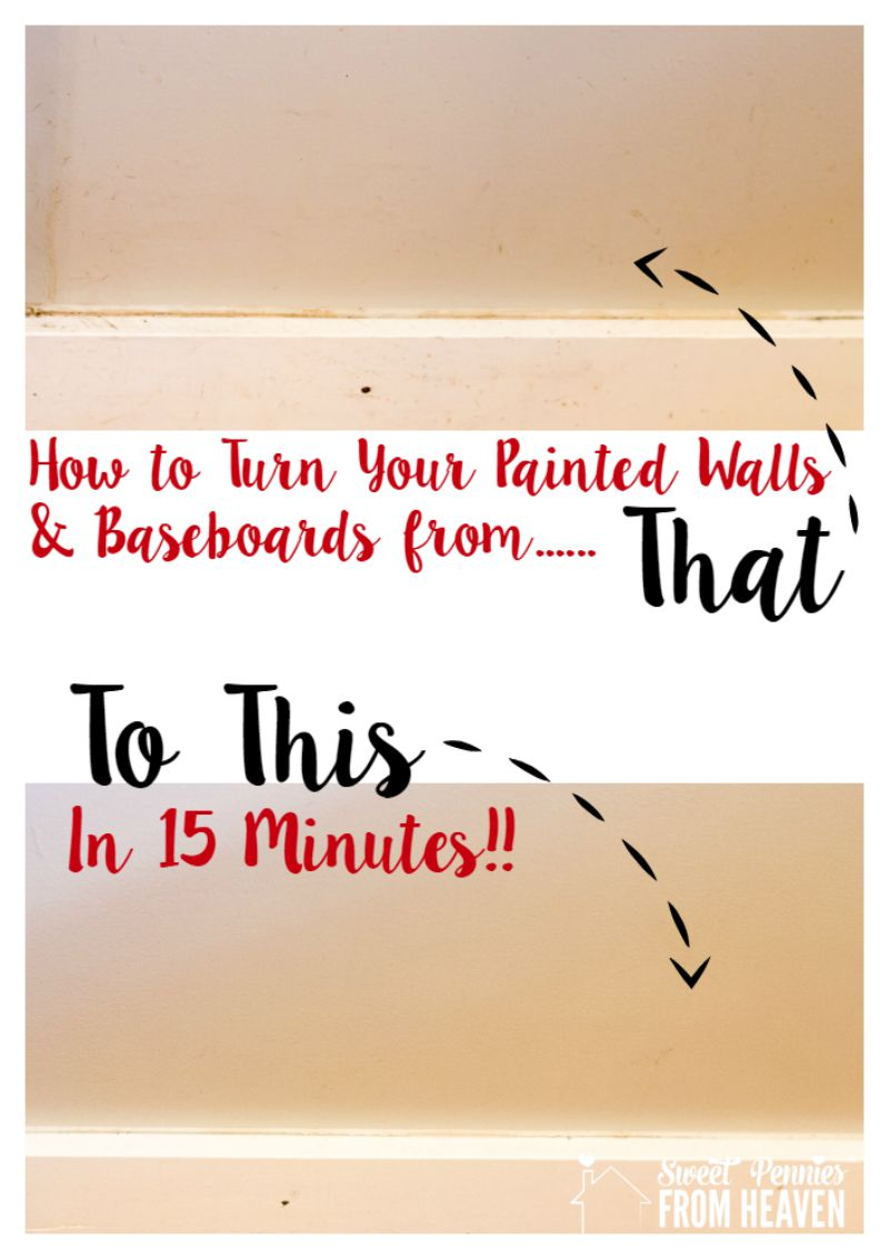 How to clean painted walls in just 15 minutes! So much easier than having to repaint!