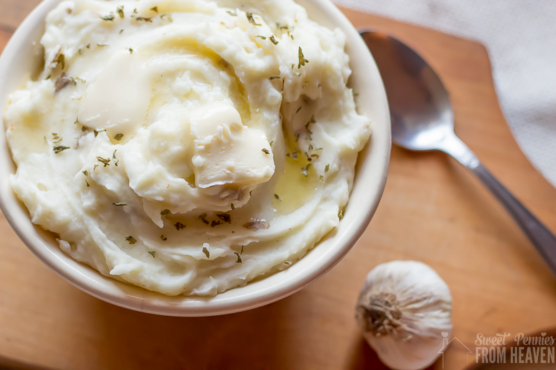 4 Tips to Perfect Homemade Mashed Potatoes and a Homestyle or Roasted Garlic Mashed Potatoes Recipe