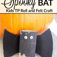 DIY bat toilet paper roll craft for Halloween. Definitely a fun and easy Kids Halloween craft project! www.sweetpenniesfromheaven.com