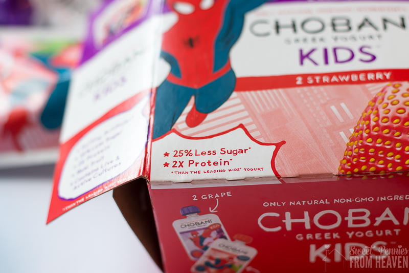 An easy Spiderman lunch idea, with Spiderman Berries and yogurt! www.sweetpenniesfromheaven.com