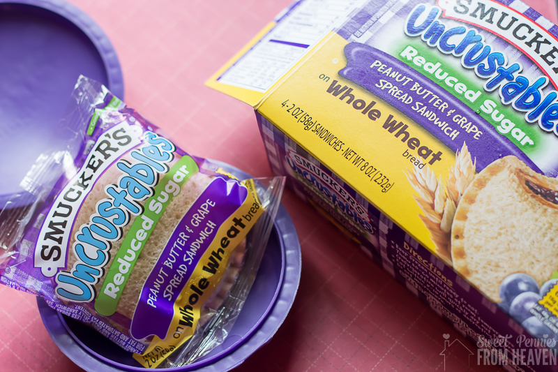 Simple and fun haunted pumpkin patch lunch idea using Smuckers Uncrustables sandwiches! www.sweetpenniesfromheaven.com