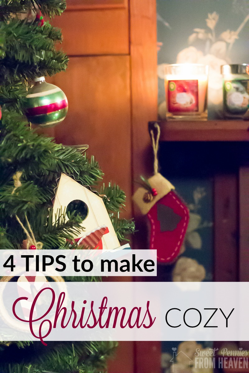 Tips to make Christmas cozy for family and friends this year! Simple and easy ways to make everyone feel at home during your holiday entertaining! www.sweetpenniesfromheaven.com