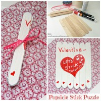 "Popsicle Stick Puzzle for Valentine's Day – ""Let's STICK Together"""